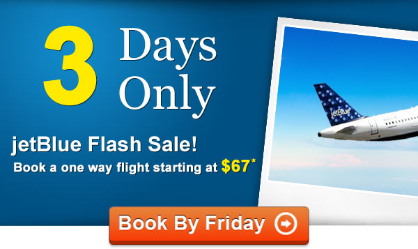 from now until friday you can grab a one way jetblue flight starting at just 67. Black Bedroom Furniture Sets. Home Design Ideas